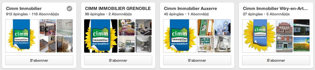 Cimm immobilier Pinterest